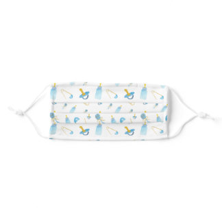 Watercolor Baby Boy Pattern For New Mom Adult Cloth Face Mask