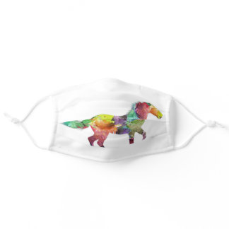 Watercolor Horse Adult Cloth Face Mask