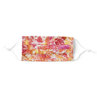 """""""Watercolor Lace - Coral"""" Protective Face Mask"""