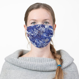 """""""Watercolor Lace - Midnight Blue"""" Face Mask"""