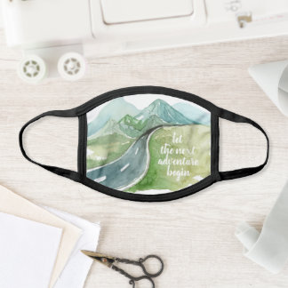 Watercolor Nature Let's The Next Adventure Begin Face Mask