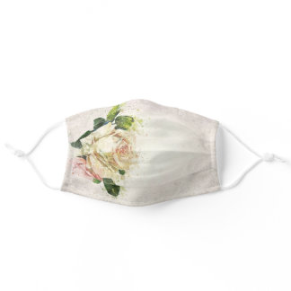 Watercolor Roses Light Watercolor Background Adult Cloth Face Mask