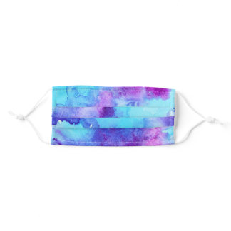 Watercolor Tie Dye Adult Cloth Face Mask