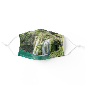 Waterfalls in Plitvice National Park - Croatia Adult Cloth Face Mask