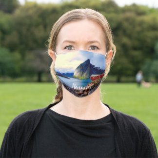 Waterfront Cottage Scenic Norway Adult Cloth Face Mask