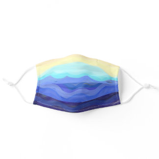 Waves on Shore Adult Cloth Face Mask