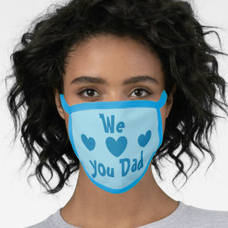 We love you Dad face mask by dalDesignNZ