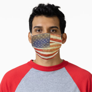 We The People on Flag Adult Cloth Face Mask