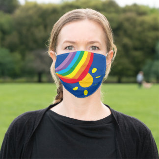Weather, Rainbow and Sunshine Face Mask