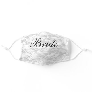 Wedding Day Bride Lace Adult Cloth Face Mask