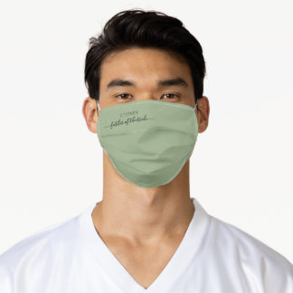 Wedding Father of Bride Script Sage Green Adult Cloth Face Mask