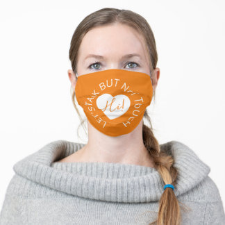 Wedding social distancing guest care amber heart cloth face mask