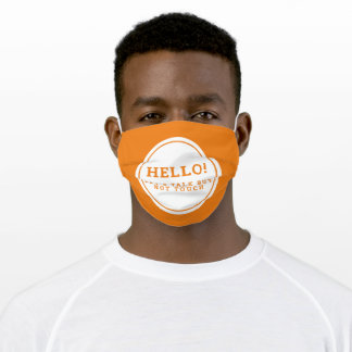Wedding social distancing guest care orange text cloth face mask
