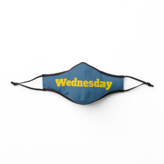 Wednesday with Yellow Text Template Premium Face Mask