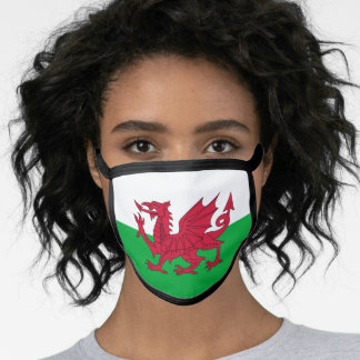 Welsh dragon flag face mask