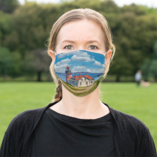 West Quoddy Head Lighthouse, Lubec, Maine Adult Cloth Face Mask