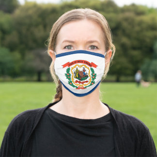 West Virginia State Flag Adult Cloth Face Mask