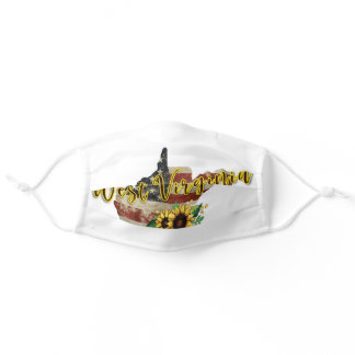 West Virginia/Sunflower/American Flag Adult Cloth Face Mask