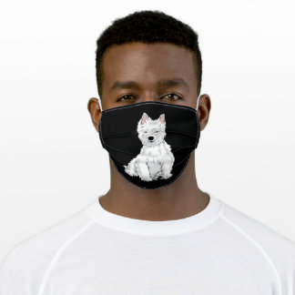 Westie Dog West Highland White Terrier Gift Adult Cloth Face Mask