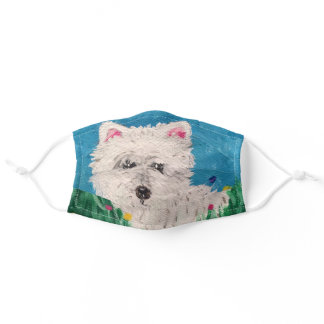 Westie Painting Face Mask