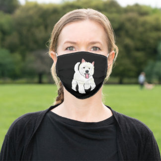 Westie West Highland White Terrier Adult Cloth Face Mask