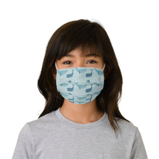 Whales and Fishies Kids' Cloth Face Mask