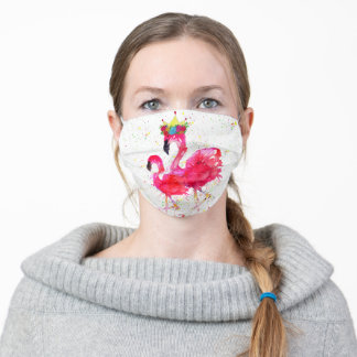Whimsical and Colorful Pink Flamingo Face Mask