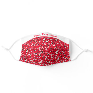 Whimsical Red Black and White Polka Dots Style Adult Cloth Face Mask