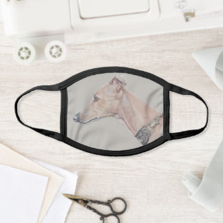 Whippet dog Art Face Mask