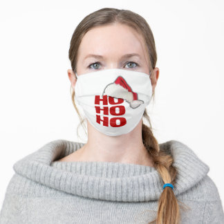 White Christmas Santa Face Mask with Filter Slot