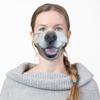 White Faced Golden Retriever Nose and Mouth Mask