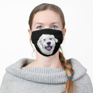 WHITE GREAT PYRENEES DOG ADULT CLOTH FACE MASK