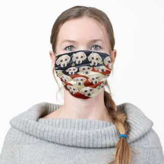 WHITE LABRADOR RETRIEVER ADULT CLOTH FACE MASK