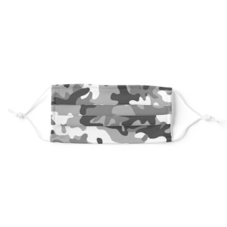 White Out Camo Adult Cloth Face Mask