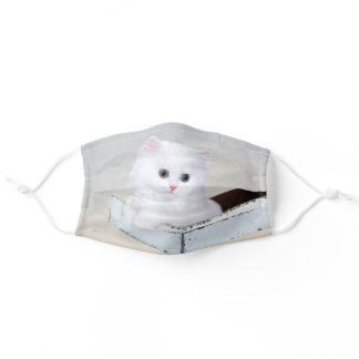 White Persian kitten Adult Cloth Face Mask