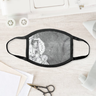 White Queen Facemask Alice in Wonderland Mask