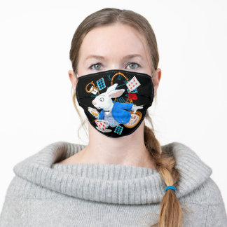 White Rabbit Cute Bunny Pet Love Adult Cloth Face Mask