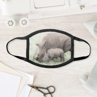 White Rhino and Baby Face Mask
