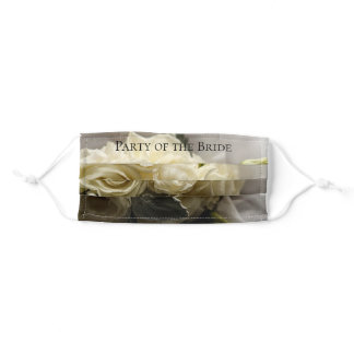 White Rose Bouquet Wedding Old World Classic Love Adult Cloth Face Mask