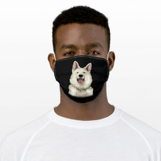 White Swiss Shepherd Gift Adult Cloth Face Mask