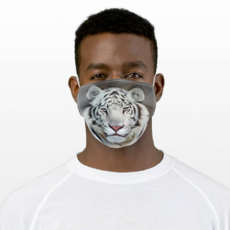 White Tiger Adult Cloth Face Mask