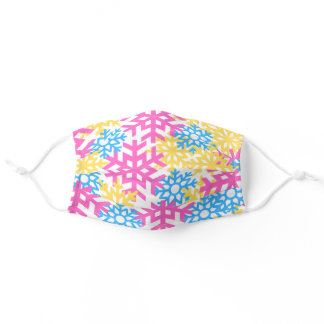 Who Said Snow Should Be White Colorful Snowflake Adult Cloth Face Mask