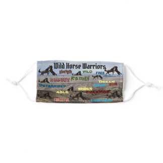 Wild Horse Warriors Adult Cloth Face Mask