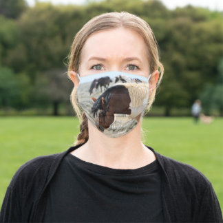Wild Mustangs of the West Adult Cloth Face Mask