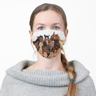 Wild Mustangs of the West Cloth Face Mask