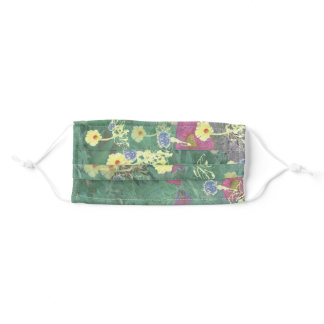 Wildflower and Green Adult Cloth Face Mask