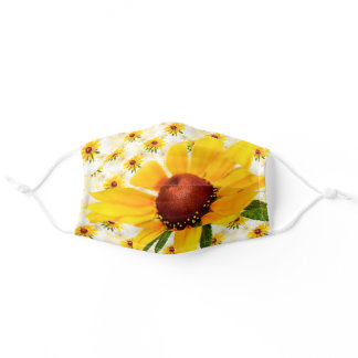 Wildflower Black-Eyed Susan Floral Photography Adult Cloth Face Mask