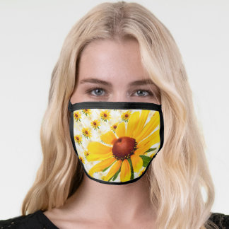 Wildflower Black-Eyed Susan Floral Photography Face Mask
