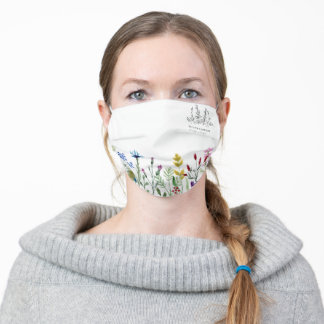 Wildflower with Company Logo Adult Cloth Face Mask