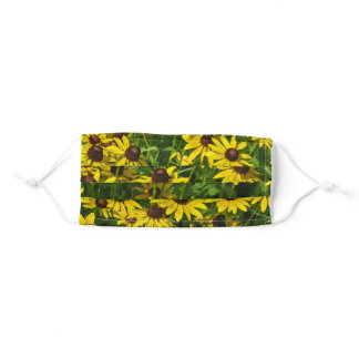 Wildflowers - Black Eyed Susans Adult Cloth Face Mask